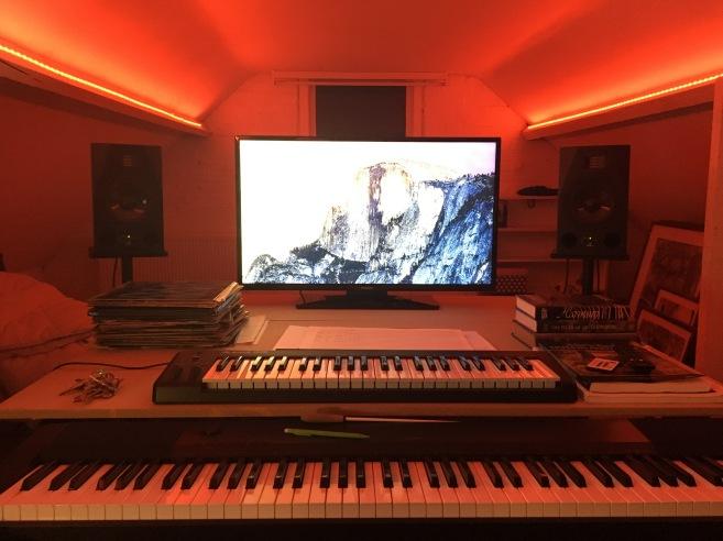 Charlotte's studio setup