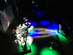 On stage mid performance