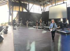 Soundcheck before the show