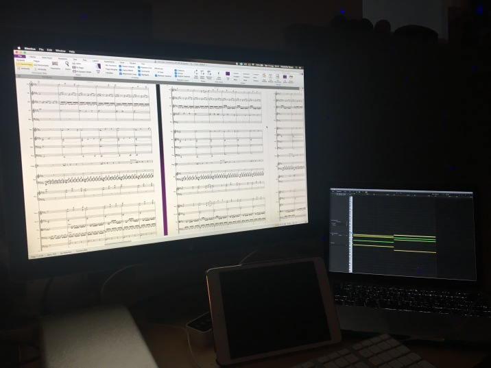 Concert overture in the scoring stages - From DAW to Sibelius 7